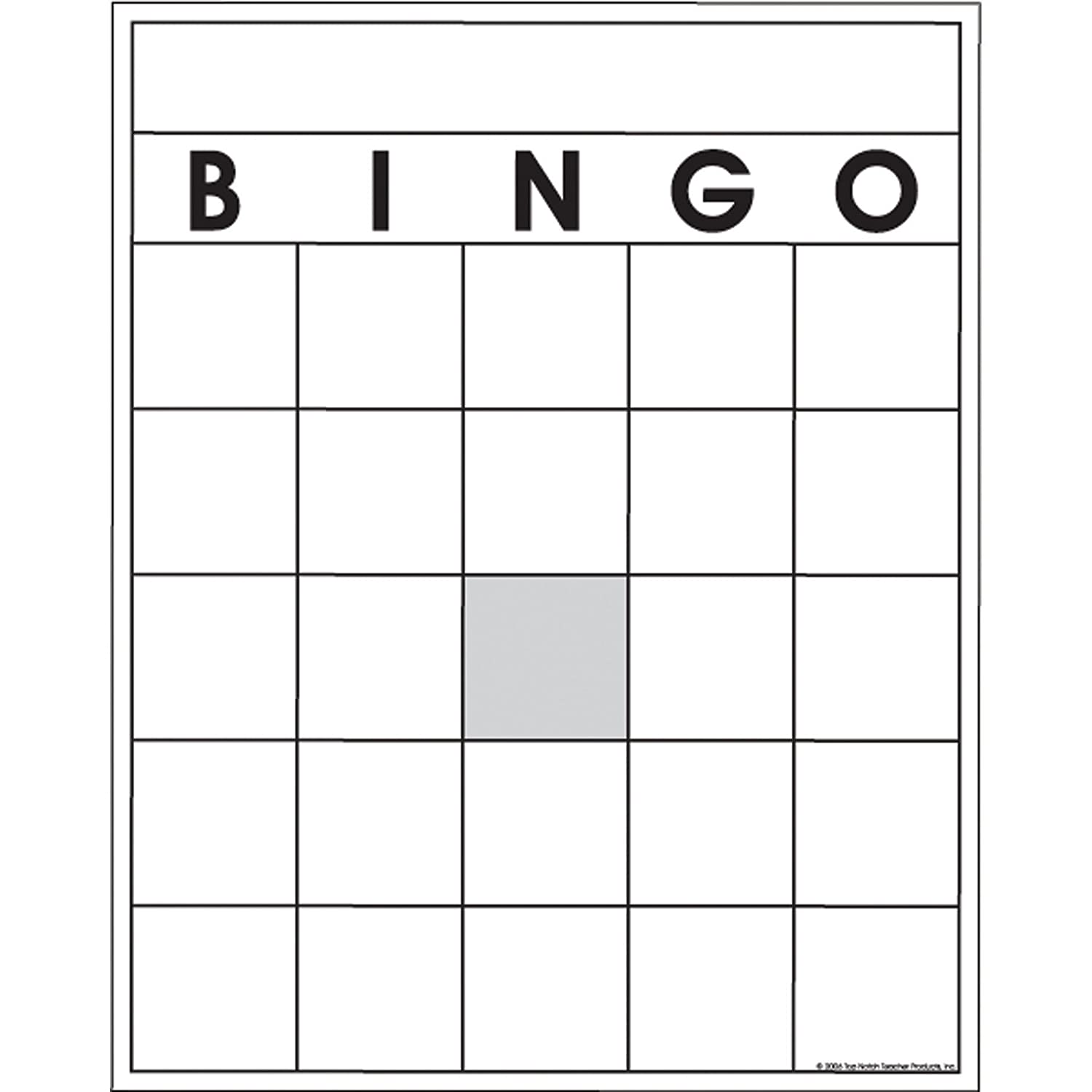 Amazon Top Notch Teacher Products Blank Bingo Cards 36 Pack
