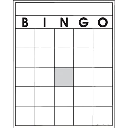 AmazonCom Top Notch Teacher Products Blank Bingo Cards  Pack
