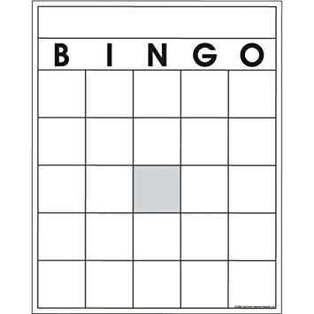 Amazon.Com: Top Notch Teacher Products Blank Bingo Cards, (36 Pack
