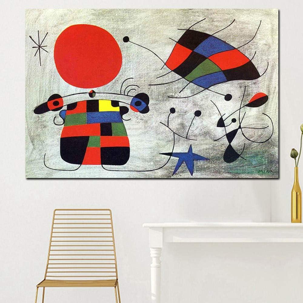 Quadri Su Tela Wall Art Stampe Hd Decorazioni Per La Casa Pittura Spagnola Joan Miro Nessuna Cornice 60x80 Cm Amazon It Casa E Cucina