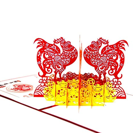paper spiritz pack of 6 pop up happy new year cards laser cut birthday card