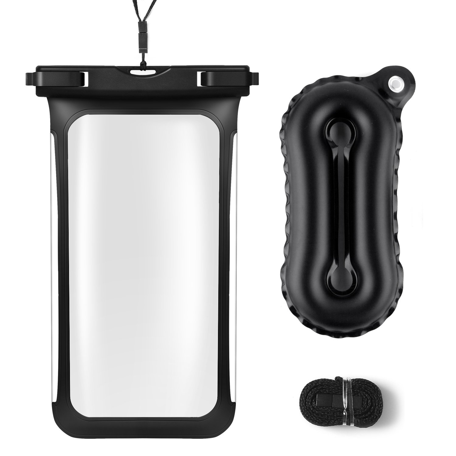 Floating Waterproof Case, iFASCINATE Universal Dry Bag Pouch for iPhone 6 Plus, 6S, 6, 5S, 5,Samsung Note 5 Device under 6.0\
