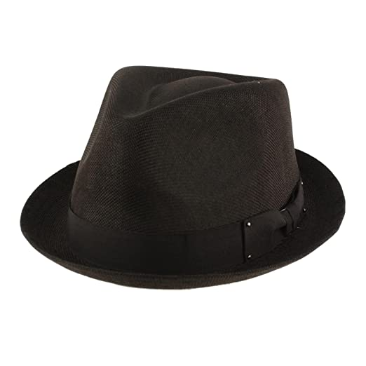 56a72db28f2 SK Hat shop Men s Summer Lightweight Linen Derby Fedora Upturn Curl Brim Hat  at Amazon Men s Clothing store