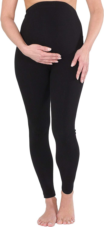 Herzmutter Umstandsleggings Schwangerschaftsleggings aus Baumwolle 1500 besonders bequem-komfortabel-elastisch warme-blickdichte Damen-Leggings