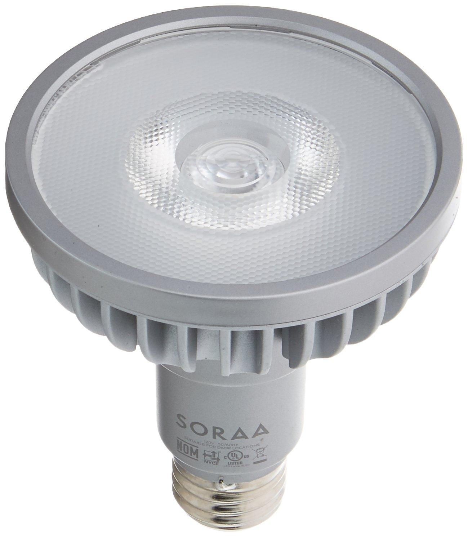 Bulbrite SP30L-18-25D-930-03 SORAA 18.5W LED PAR30L 3000K VIVID 25° Dimmable Light Bulb, Silver