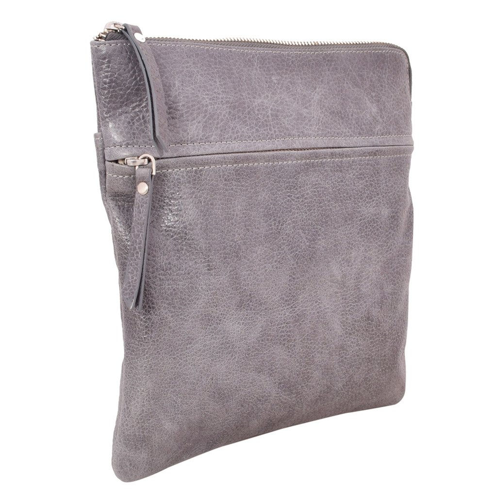 Latico Leathers Lexton Cross Body Bag Genuine Authentic Luxury Leather, Designer Made, Business Fashion and Casual Wear, Pebble Denim