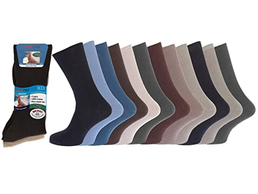 75103b87d642 Image Unavailable. Image not available for. Colour: 12 pairs Mens 100%  Cotton ...