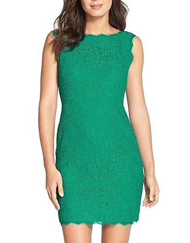 Berydress Women's Midi Dress Slimming Full Lace Party Cocktail Dress