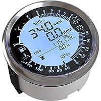 ELING Multi-funcional GPS Velocímetro Tacómetro Hora Temperatura del agua Nivel de combustible Presión del aceite…