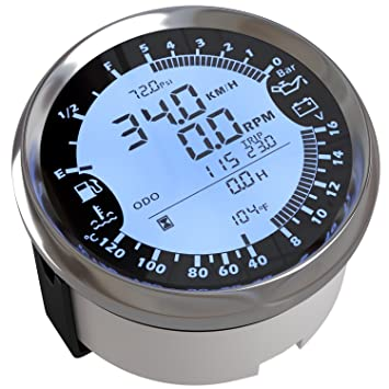Eling 6 en 1 multifuncional medidor GPS velocímetro tacómetro Hour agua Temp presión de aceite de