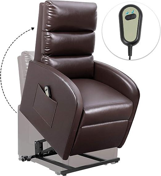 Amazon.com: Homall - Sillón reclinable eléctrico de piel ...