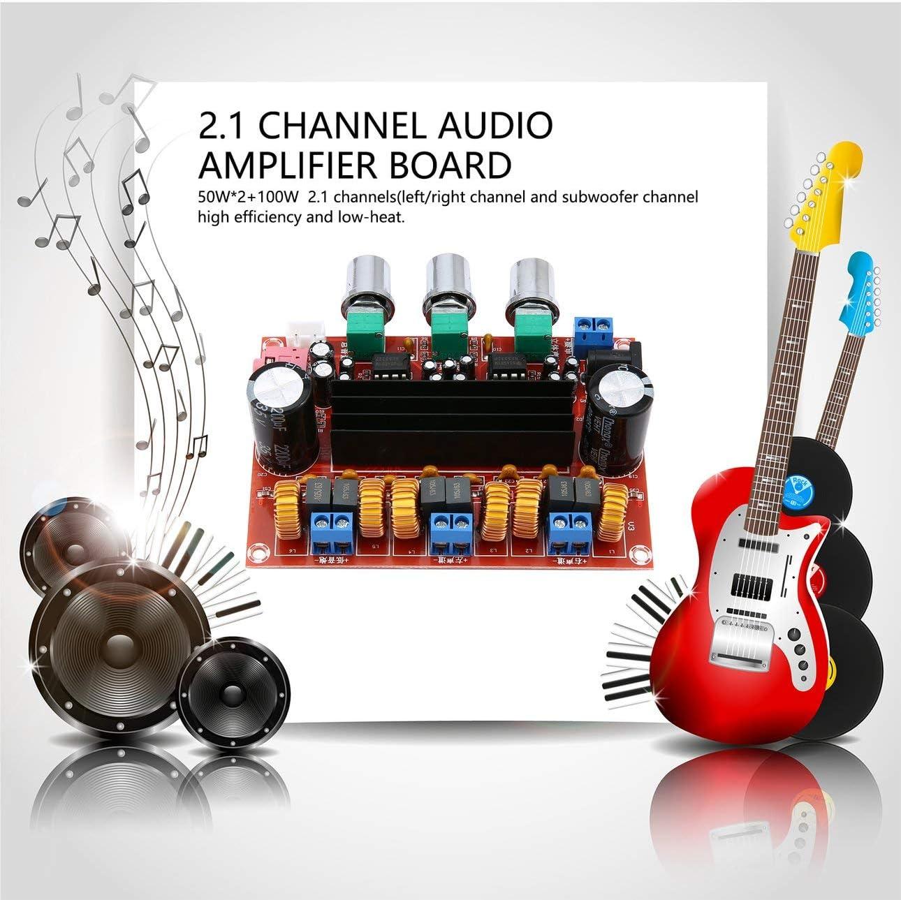 Ballylelly Amplificatori chip dual TPA3116D2 2 x 50 W 100W 2.1 Percorso digitale Subwoofer