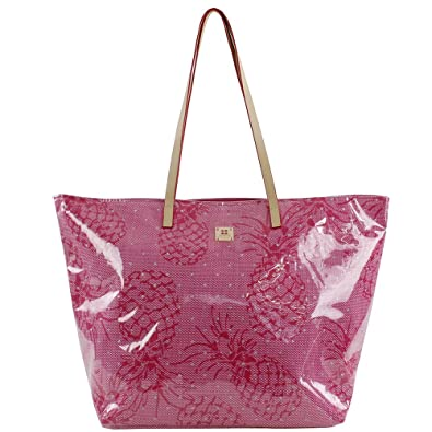 For Time Bolso de Playa Pineapple para Mujer, Rosa, 58x38 cm