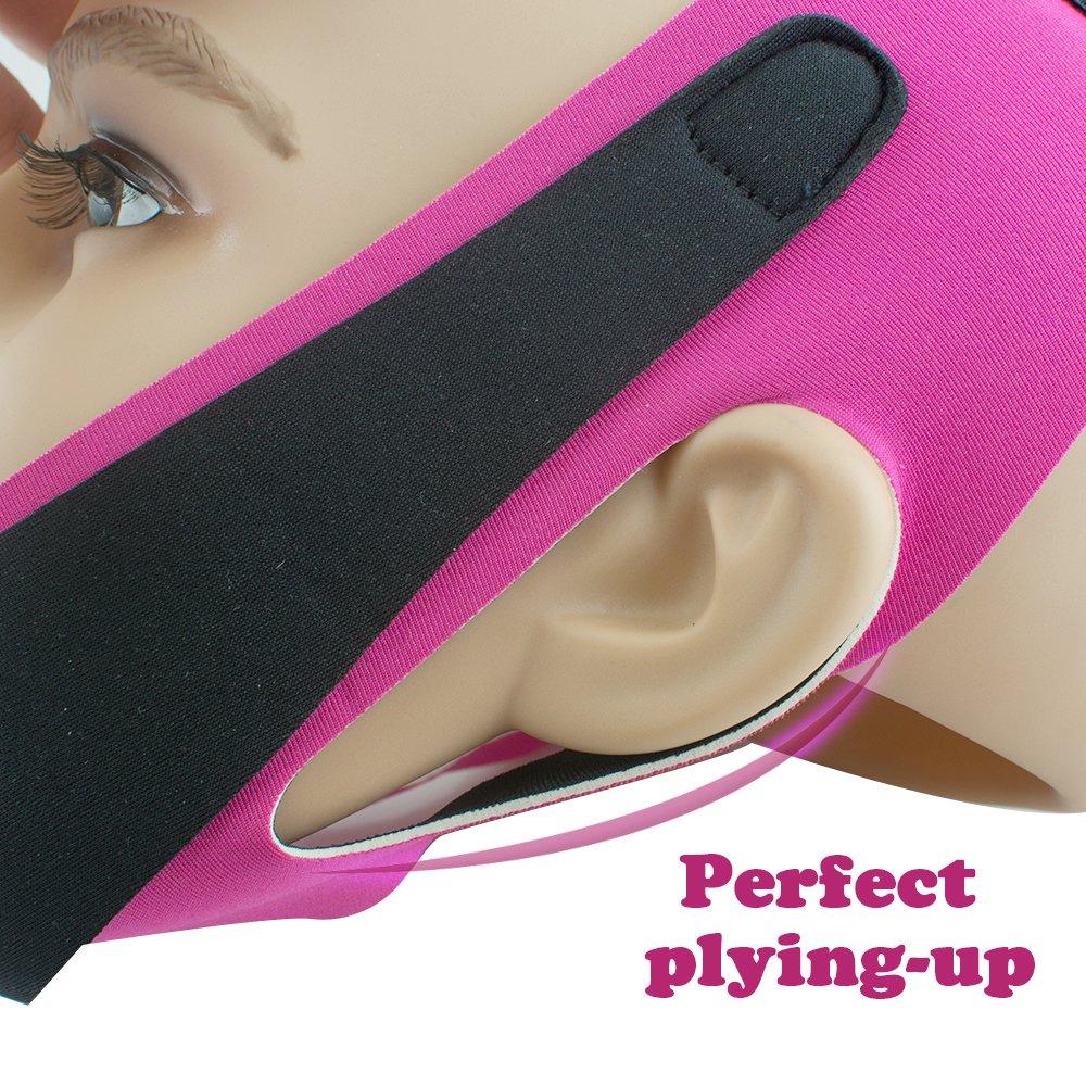 Máscara adelgazante para la papada, transpirable, antiarrugas, mascarilla en forma de V, uktrafina, reductora de papada, de la marca Vinmax: Amazon.es: ...