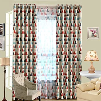 Merveilleux Sundlight Multi Color Triangle Patterns Window Curtain Blackout Curtains  Living Room U0026Tulle Panels Drapes