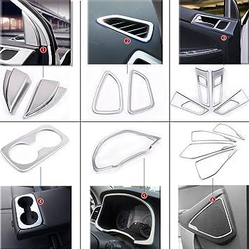 BeHave Nst489w - Juego completo de accesorios para coche, cubierta protectora interior, cromado,