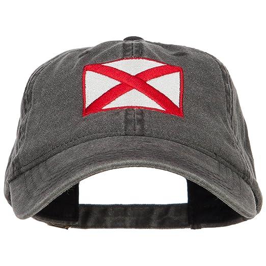 3e1c44dd8fd ... czech e4hats alabama state flag embroidered washed cap black osfm 54c35  accdf