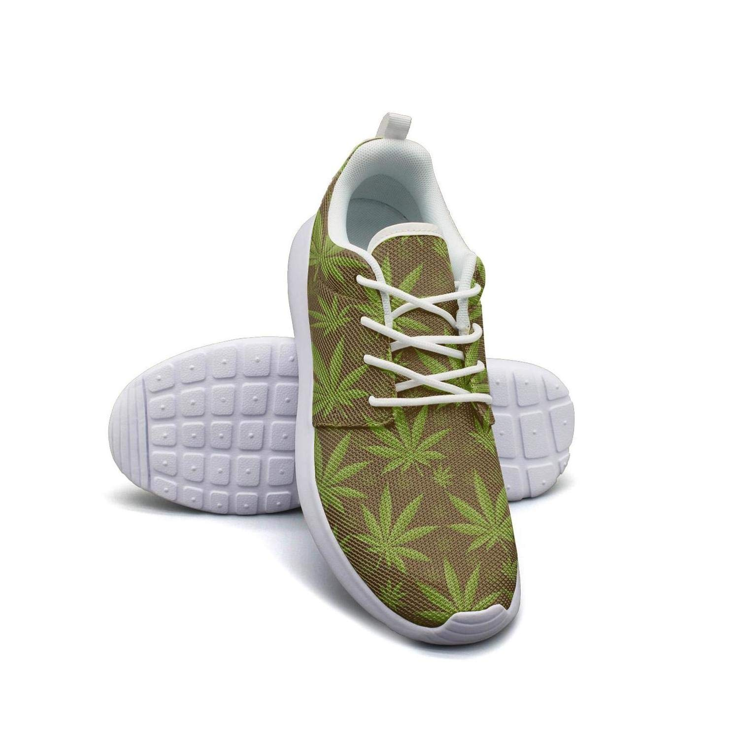 Marijuana cannabis is an endless Ladies Sneakers for Women cute Non-Slip On Running Shoes