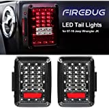 Firebug Jeep Wrangler Rear LED Lights, Jeep Wrangler LED Tail Lights, Jeep Brake Light LED, LED Jeep Reverse Lights, JK JKU 07 - 16