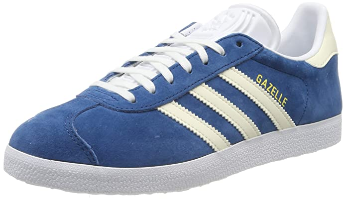 adidas Damen Gazelle Sneaker Blau (Legend Marine) mit weißen Streifen