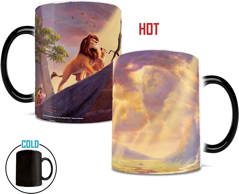 Disney - The Lion King - Presentation of Cub - Thomas Kinkade - One 11 oz Morphing Mugs Color Changing Heat Sensitive Ceramic Mug – Image Revealed When HOT Liquid Is Added!