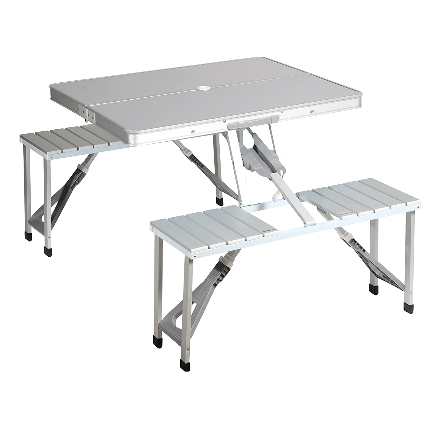 Campart Travel TA-0820 Picnic table – Fold safety system – Aluminum Tristar
