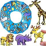 German Trendseller® - 6 x Moosgummi 3D Tiere ┃ inkl. Anleitung ┃ Kindergeburtstags ┃ Für 6 Kinder zum Basteln und Dekorieren