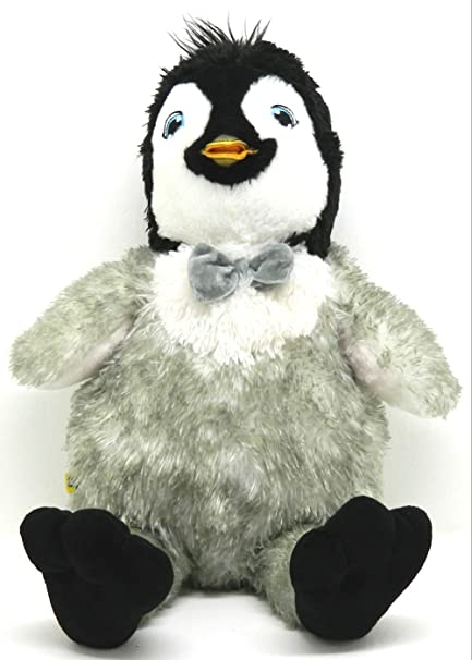 8ef331aef04 Amazon.com  Build-a-Bear Mumbles Happy Feet Talking Penguin wit Light Up  Bow Tie 18 inch plush  Toys   Games
