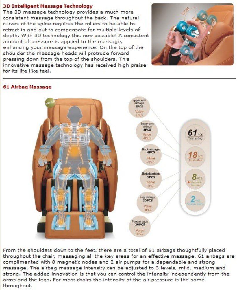 Titan Pro Executive Massage Chair options