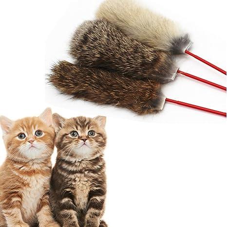 Fossrn 1PC Mascotas Juguetes de Gatos Pelo de Conejo Gatos Divertidos Mascotas Gatito Saltar Ayuda Divertidos