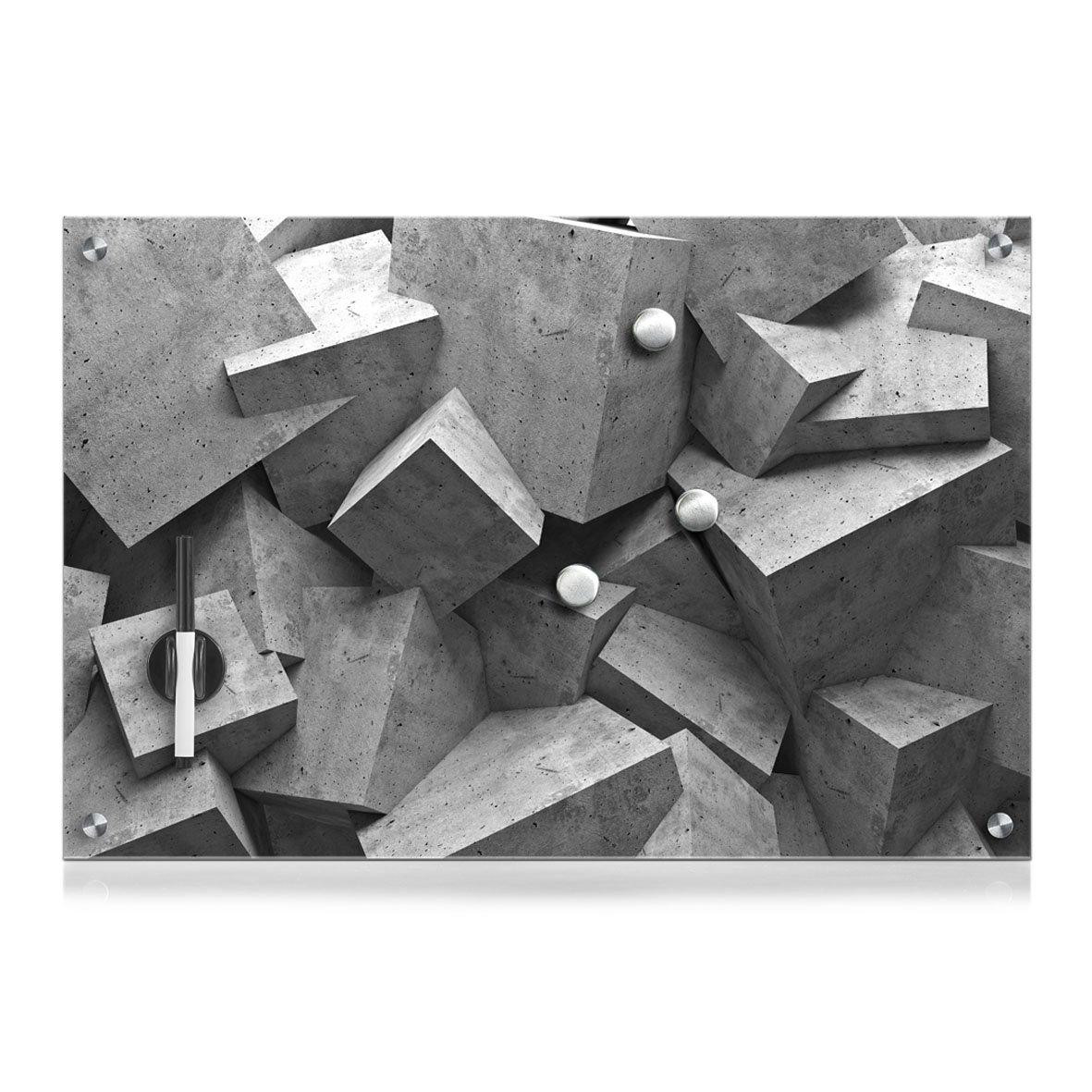 Zeller 11651 - Lavagnetta memo in vetro effetto legno, Metallo, Rose, 40 x 40 cm ZELNG 11674