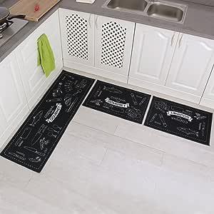 New Seaspray Mat 57cm x 90cm Rubber Back Kitchen Rug 3787 Light Grey