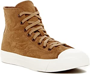 PRO-Keds Mens Royal Hi Top Debossed Camo Brown Sneaker