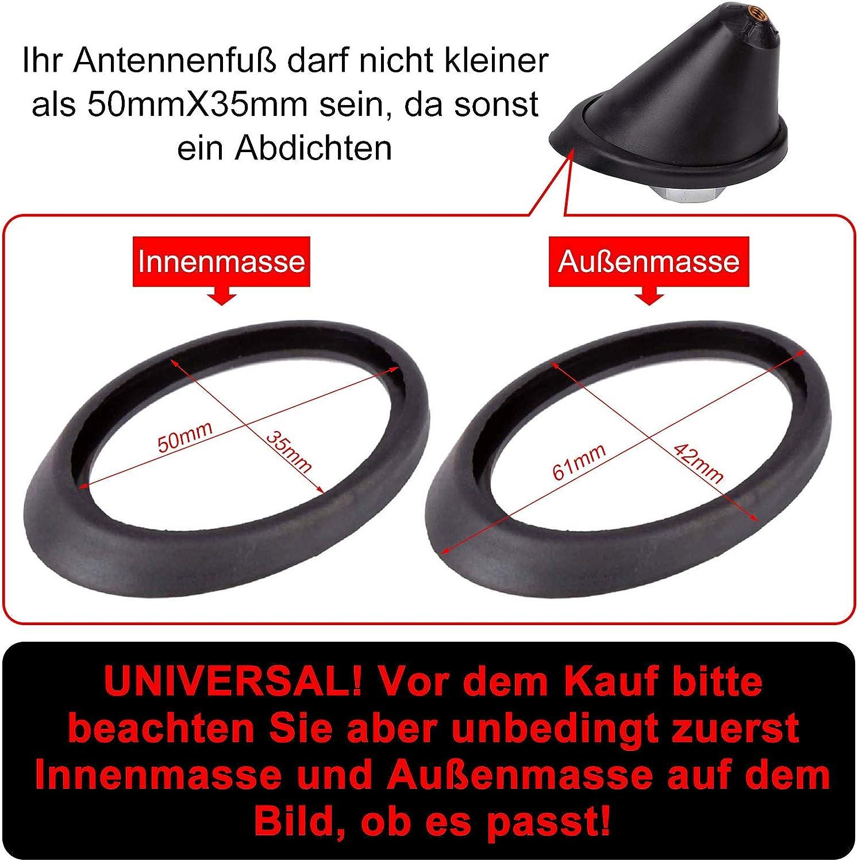 colore nero guarnizione del piedino dellantenna del tetto Riparazione guarnizione antenna del tetto antenna base 16 V ricambio della base dellantenna