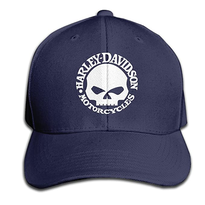 Harley Davidson Skull Men And Women Black Adjustable Cotton Baseball Cap Snapback  Hat  Amazon.ca  Clothing   Accessories a74920fb607