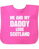 Me and my Dad Love Scotland Velcro Baby Bib in 9 Colours - 100% Cotton