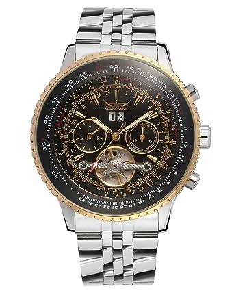 Watches Men's Watches +box Helpful Jaragar Luxury Brand Wrist Watch Sport Men Genuine Leather Tourbillion Mechanical Watches Cool Dress Watch Gift For Male