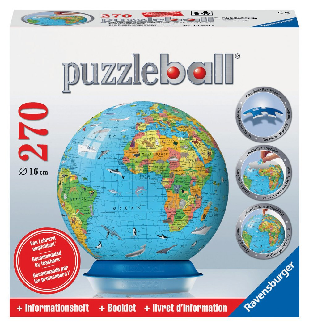 Ravensburger 12362 Puzzleball - Globo terráqueo (270 piezas)