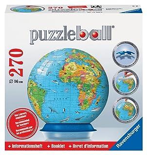 Ravensburger Children's Globe with Info-Booklet - 270 pc 3D Puzzle Ravensburger Children's Globe with Info-Booklet - 270 pc 3D Puzzle 12362 025441N-FR Puzzles