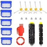 DerBlue For iRobot Roomba 650 655 660 620 630 645 Vacuum Cleaner Accessories, Include with 1Pcs Flexible Beater Brush,1Pcs Bristle Brush,5Pcs Filters, 5Pcs 3-Armed Brushes, Cleaing tool