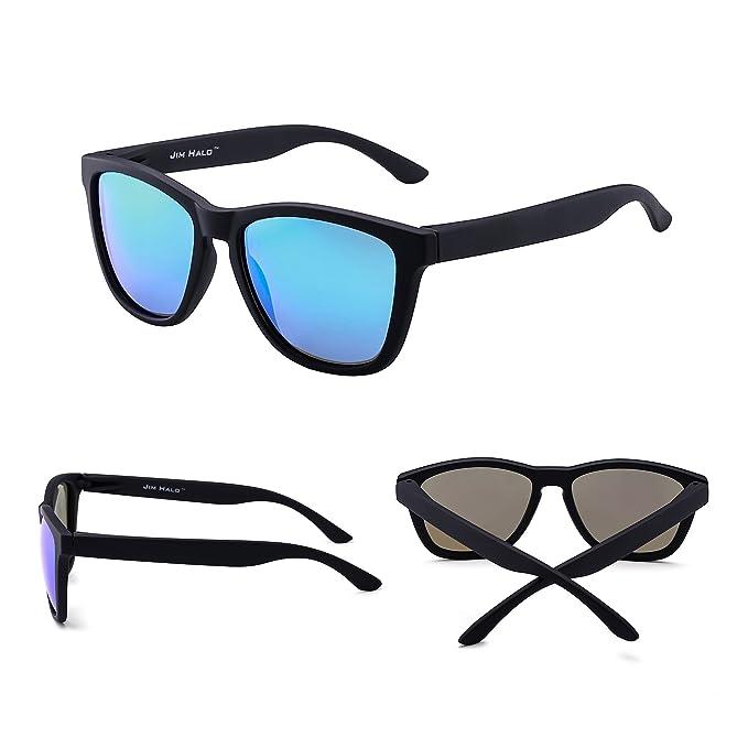 JIM HALO Gafas de Sol Retro Polarizadas Lente Reflexivo Espejo Anteojos Hombre Mujer: Amazon.es: Ropa y accesorios
