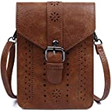 Women Small Crossbody Purse RFID Blocking Cell Phone Purse Bag Vegan Leather Wallet Purse with Credit Card Slots