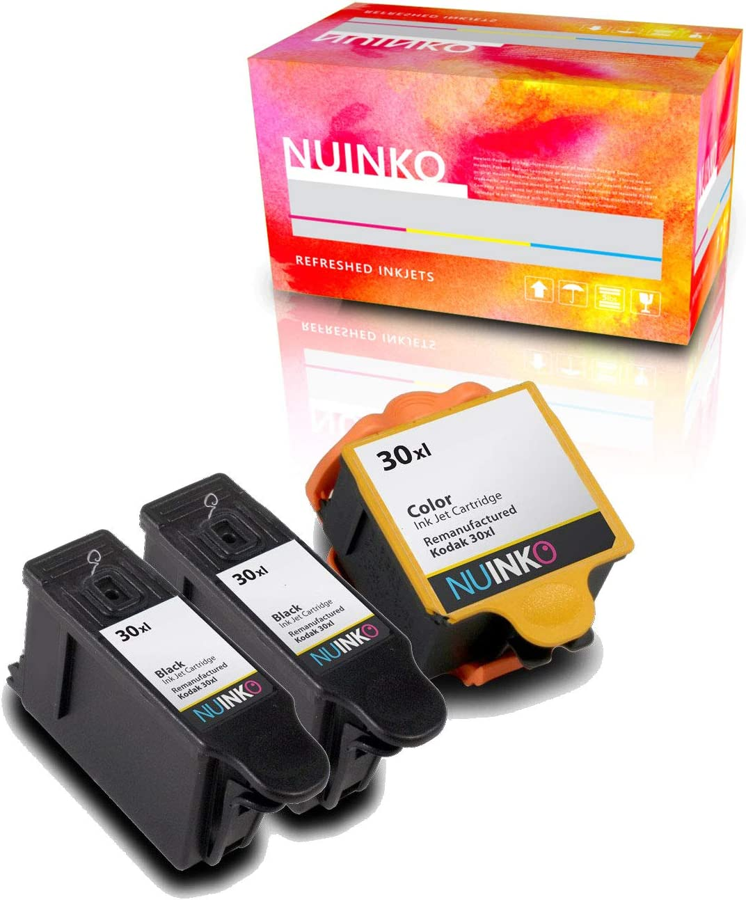 Amazon.com: nuinko 3 Pack Compatible Kodak 30 Cartuchos de ...