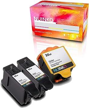 Amazon.com: nuinko 3 Pack Compatible Kodak 30 Cartuchos de ...