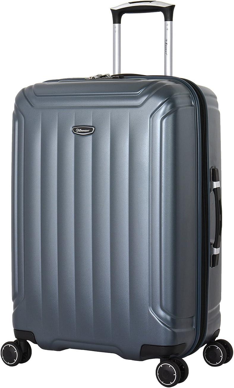 Eminent Set de Bagages Cove 3pcs Fermeture /éclair s/écuris/ée 4 Roues Doubles Serrure TSA Argent
