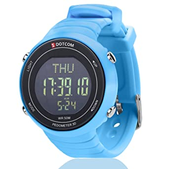 Watches Smart Men Temperature Running Sport Watch Multi-function Woman Students Pedometer Digital Electronic Silicone Wristband Watches For Fast Shipping