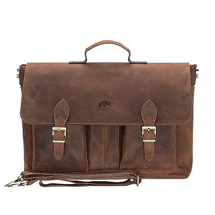68692e49cf5 Amazon.com: Burkley Case, Bradford Vintage Leather Business ...