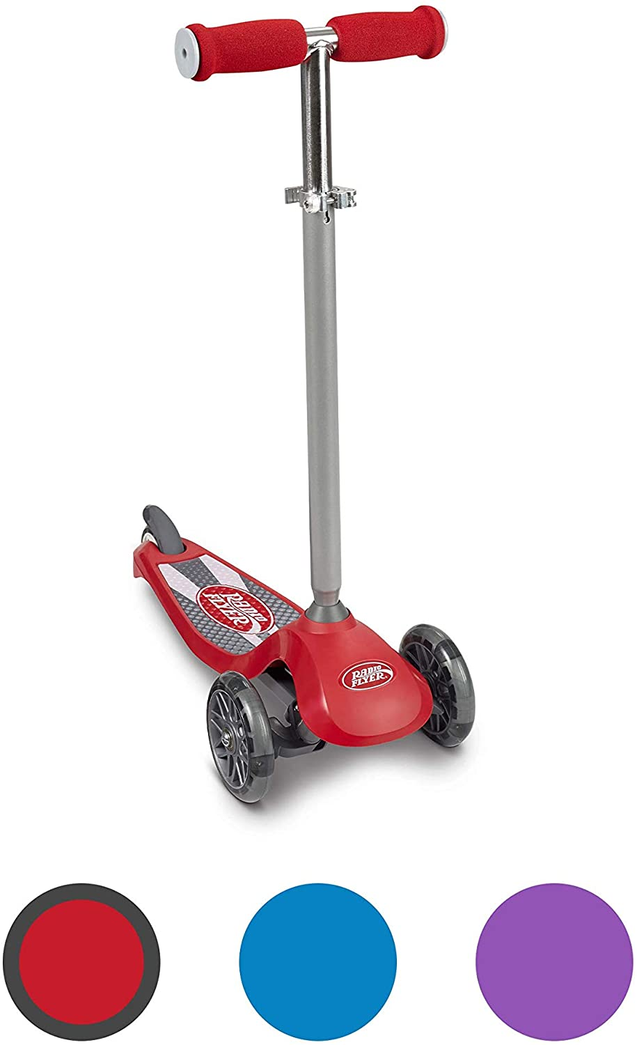 Radio Flyer Lean 'N Glide Scooter with Light Up Wheels Vehicle (549X), Red