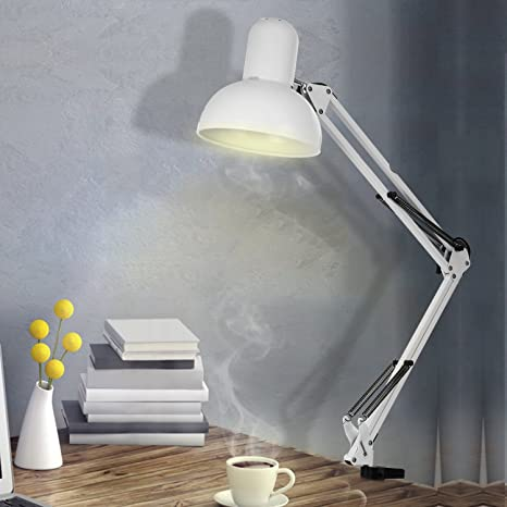 Genial Swing Arm Desk Lamp, Adjustable Arm Drafting Lamps, Eye Care Clamp Table  Desk Lamp