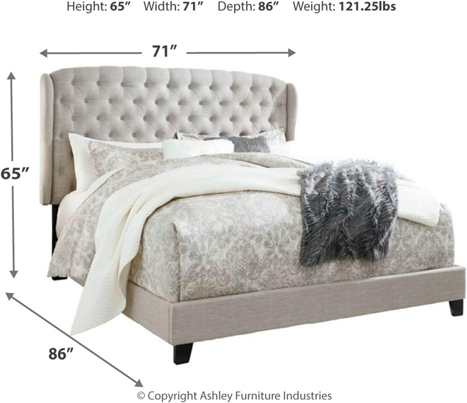 Amazon Com Signature Design By Ashley Jerary Queen Upholstered